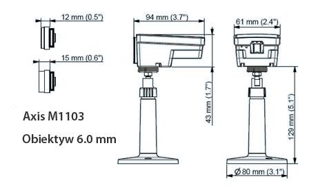 AXIS M1103 6.0MM BULK 10PCS - Kamery kompaktowe IP