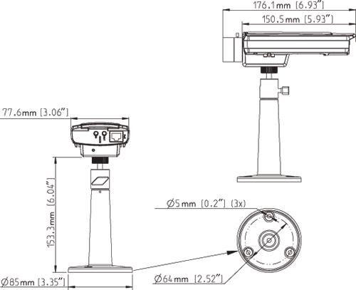 AXIS P1343 - Kamery kompaktowe IP