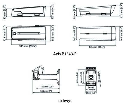 AXIS P1343-E - Kamery zintegrowane IP